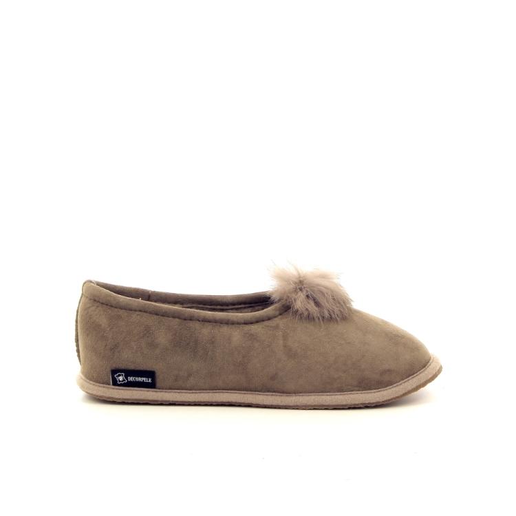 4t4 damesschoenen pantoffel taupe 179837