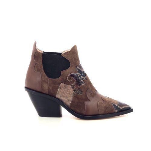 Agl damesschoenen boots naturel 207786