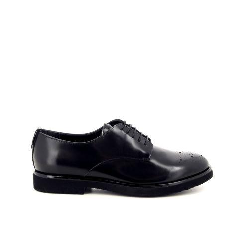 Agl damesschoenen veterschoen zwart 187701