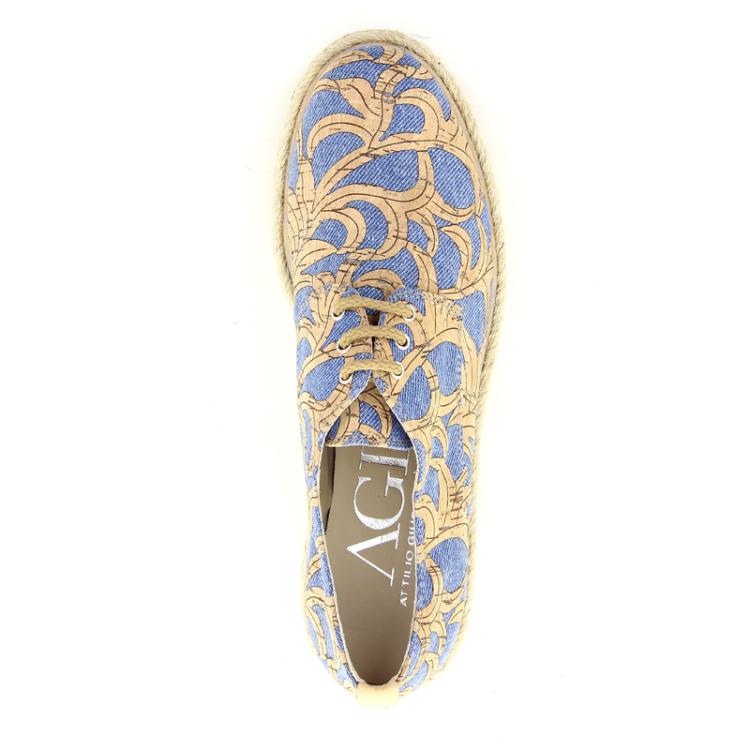 Agl damesschoenen veterschoen jeansblauw 98797
