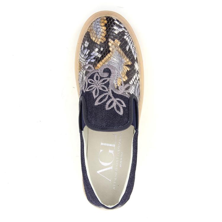 Agl damesschoenen sneaker jeansblauw 98819