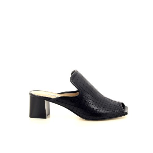 Alba teci  damesschoenen sleffer zwart 195573