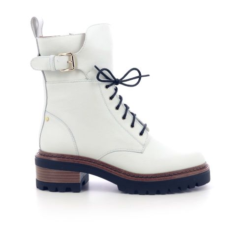 Angelo bervicato  boots ecru 218917