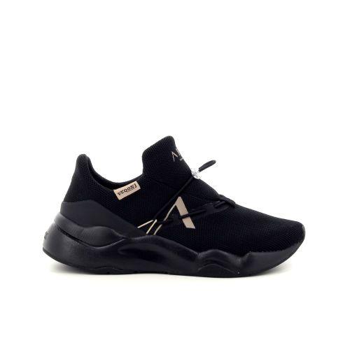 Arkk  damesschoenen sneaker zwart 190772