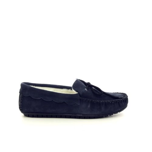 Bamanellos damesschoenen pantoffel donkerblauw 189836