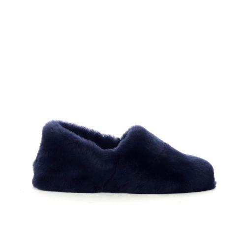 Bamanellos damesschoenen pantoffel donkerblauw 210478