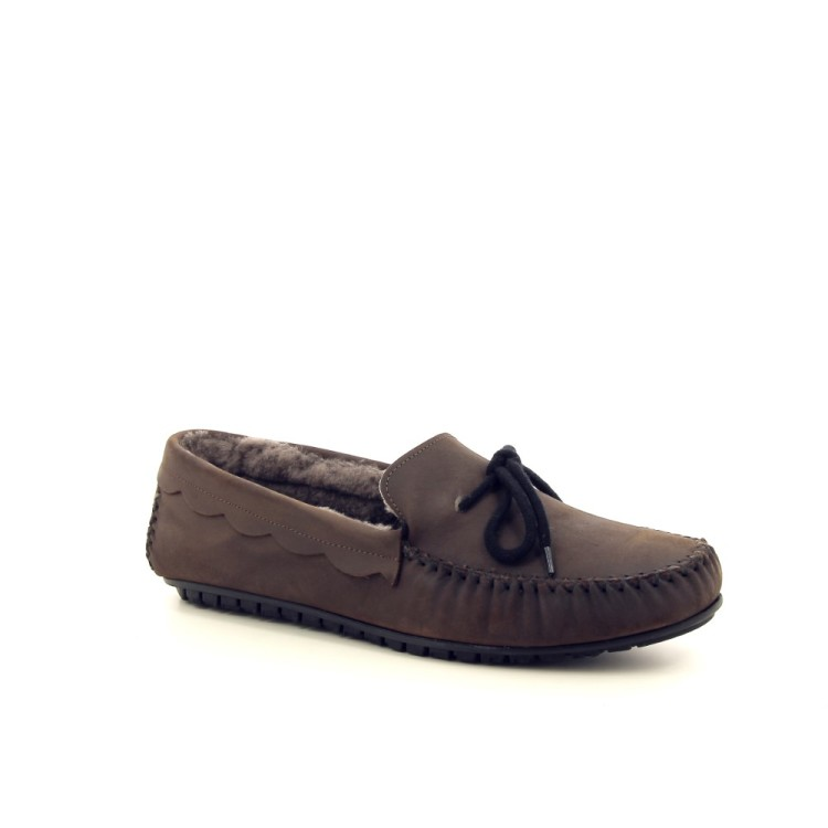Bamanellos herenschoenen pantoffel d.taupe 189838