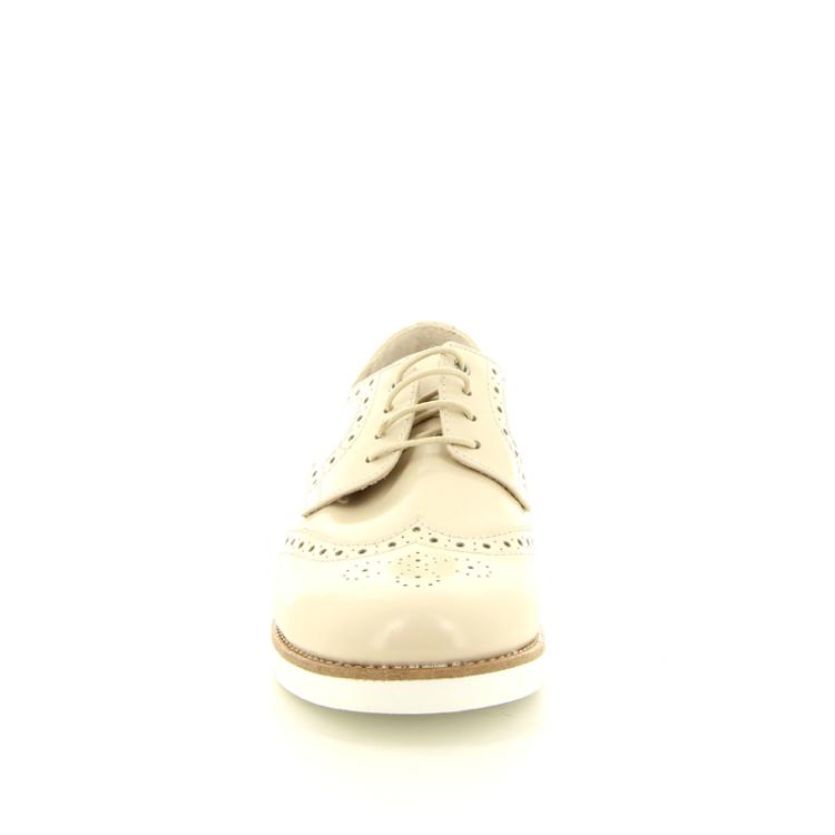 Beberlis kinderschoenen veterschoen licht beige 11235