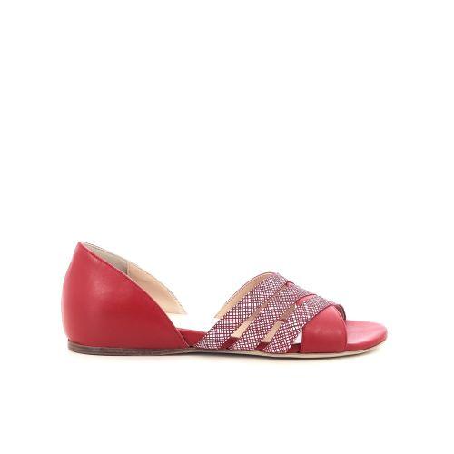 Benoite c damesschoenen sandaal rood 205286