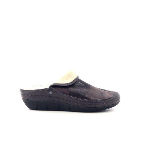 Berkemann damesschoenen pantoffel cognac 17774