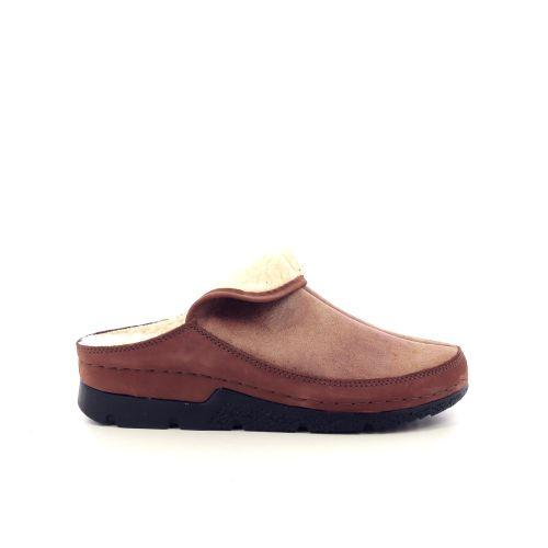Berkemann damesschoenen pantoffel cognac 216690