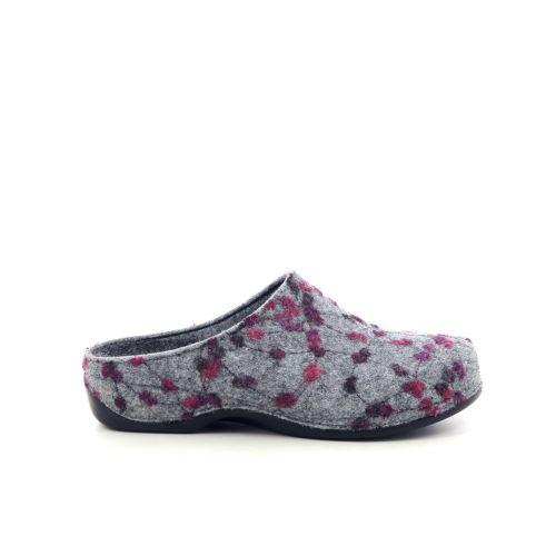 Berkemann damesschoenen pantoffel lichtgrijs 208503