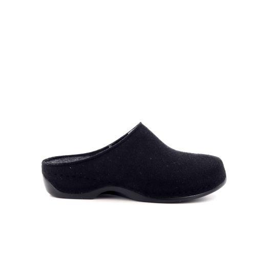 Berkemann damesschoenen pantoffel zwart 197238