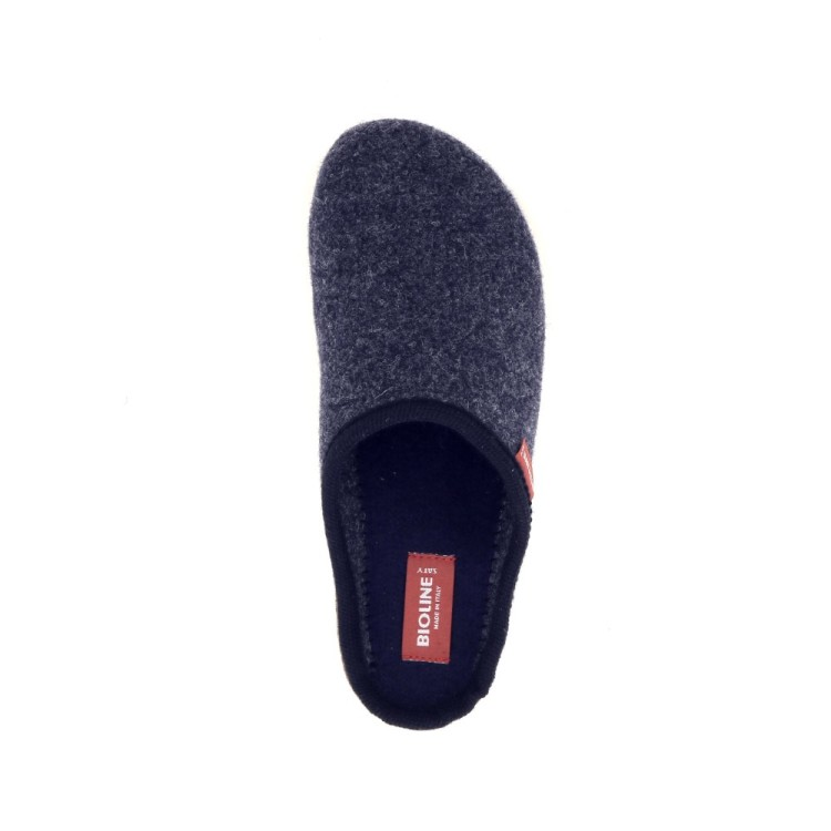 Bioline damesschoenen pantoffel donkerblauw 190309