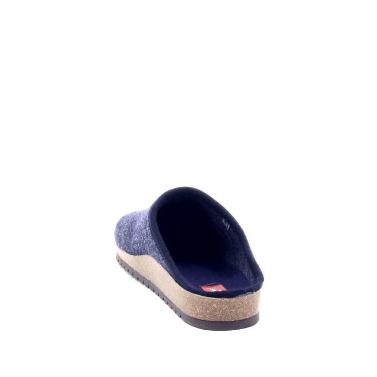 Bioline herenschoenen pantoffel donkerblauw 190305