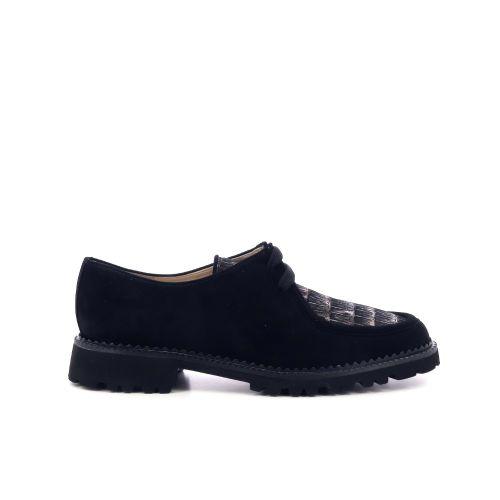 Brunate damesschoenen veterschoen zwart 210459