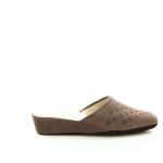 Crb damesschoenen pantoffel taupe 21588