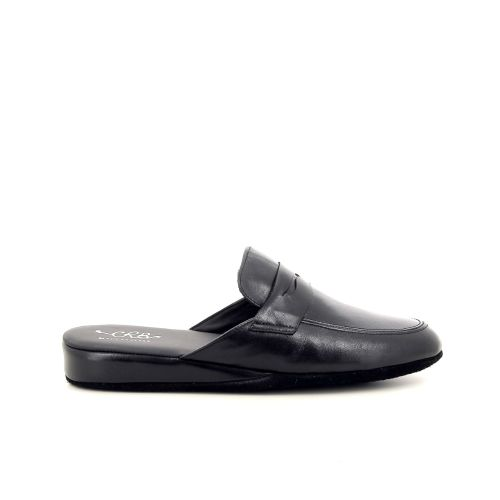 Crb herenschoenen pantoffel zwart 179434