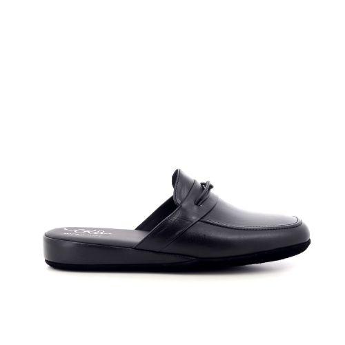 Crb herenschoenen pantoffel zwart 221860