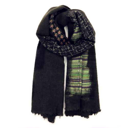 Faliero sarti accessoires sjaals kaki 190449