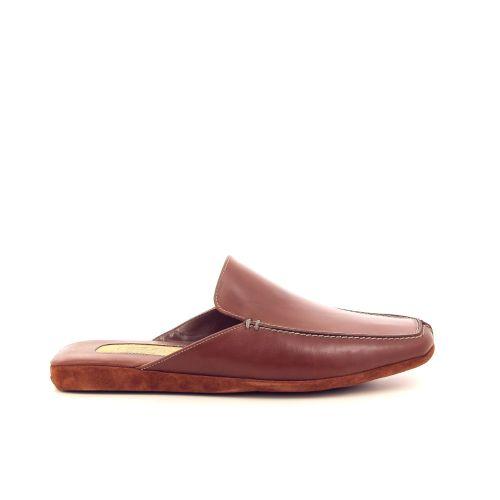 Farfalla herenschoenen pantoffel cognac 198090