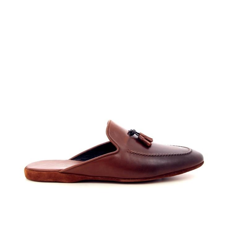 Farfalla herenschoenen pantoffel cognac 191328