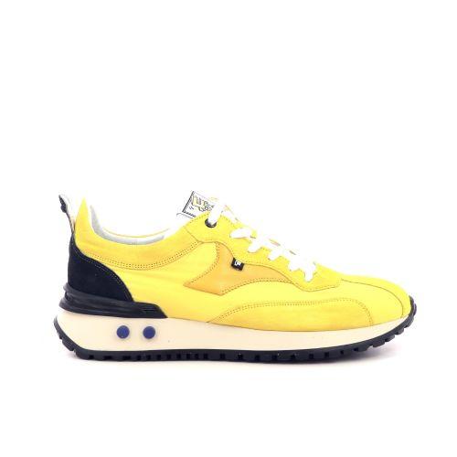 Floris van bommel  veterschoen geel 212847