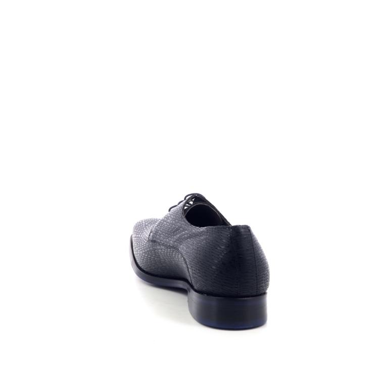 Floris van bommel herenschoenen veterschoen zwart 204369