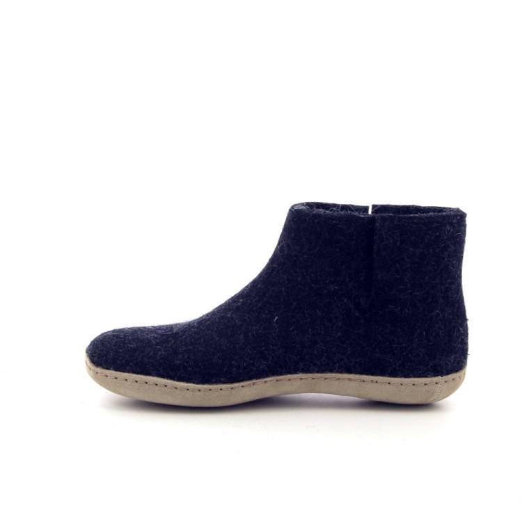 Glerups damesschoenen pantoffel antraciet 191165