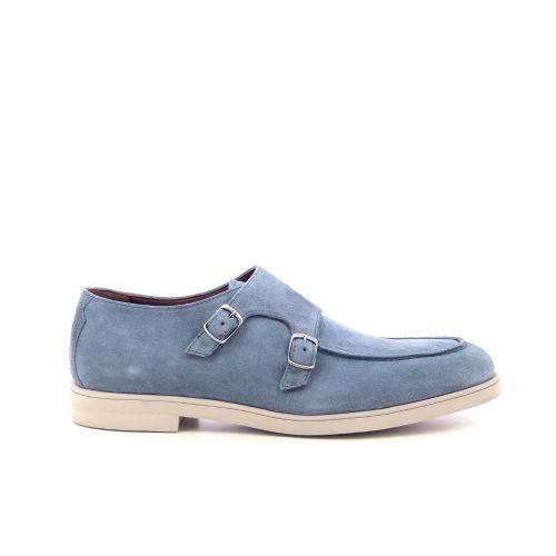 Greve  mocassin jeansblauw 213375