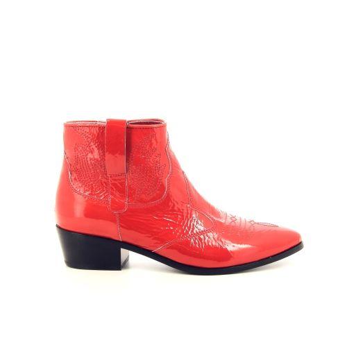 Janet & janet damesschoenen boots koraalrood 194560