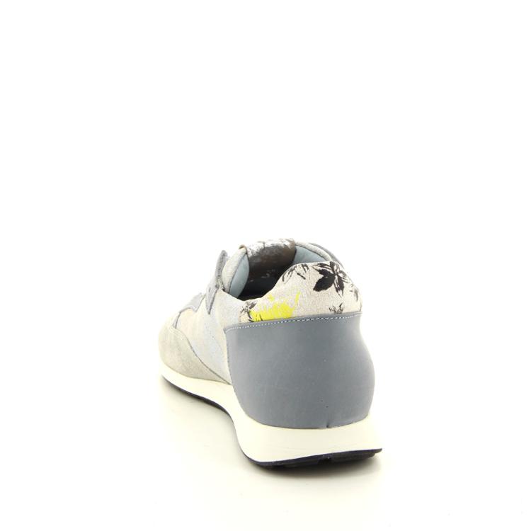 Rondinella kinderschoenen veterschoen zilver 11050