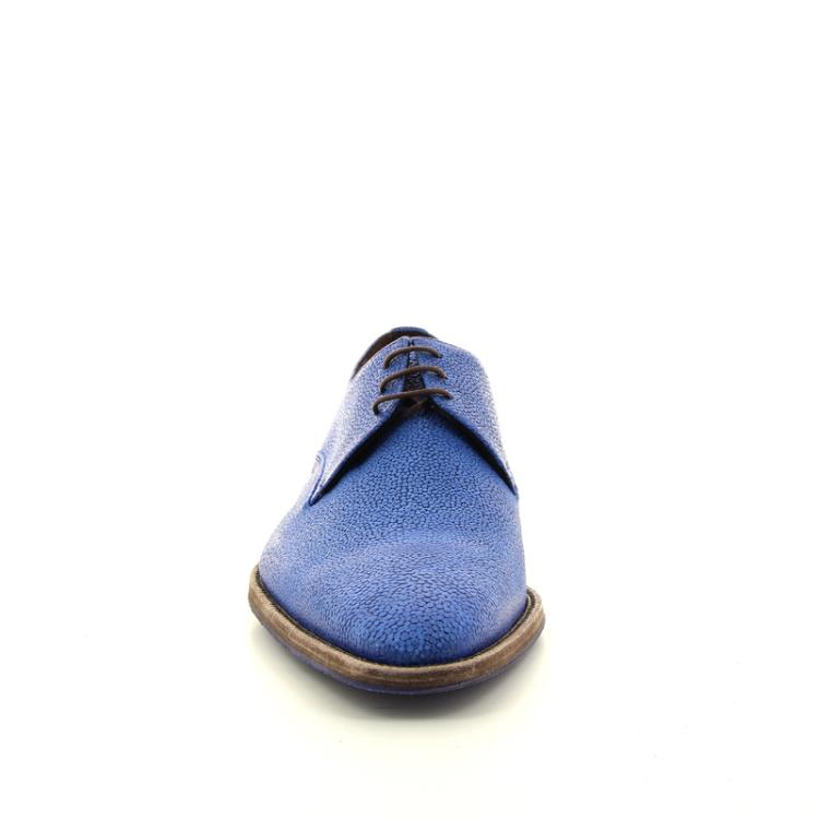Floris van bommel herenschoenen veterschoen blauw 11684