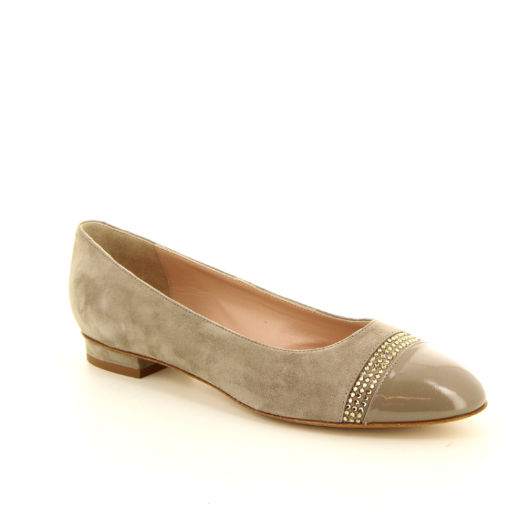 Voltan damesschoenen ballerina taupe 12531