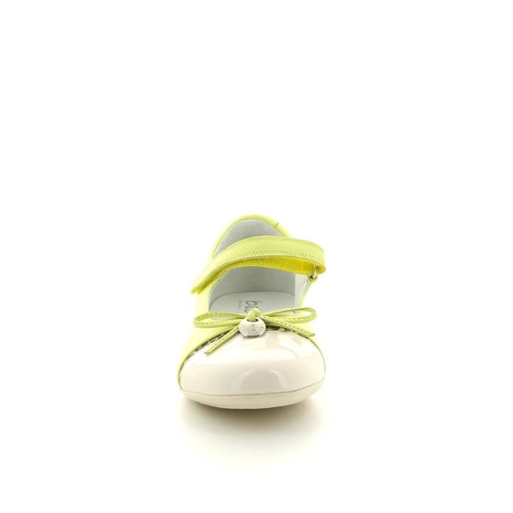 Beberlis kinderschoenen ballerina limoengeel 88184