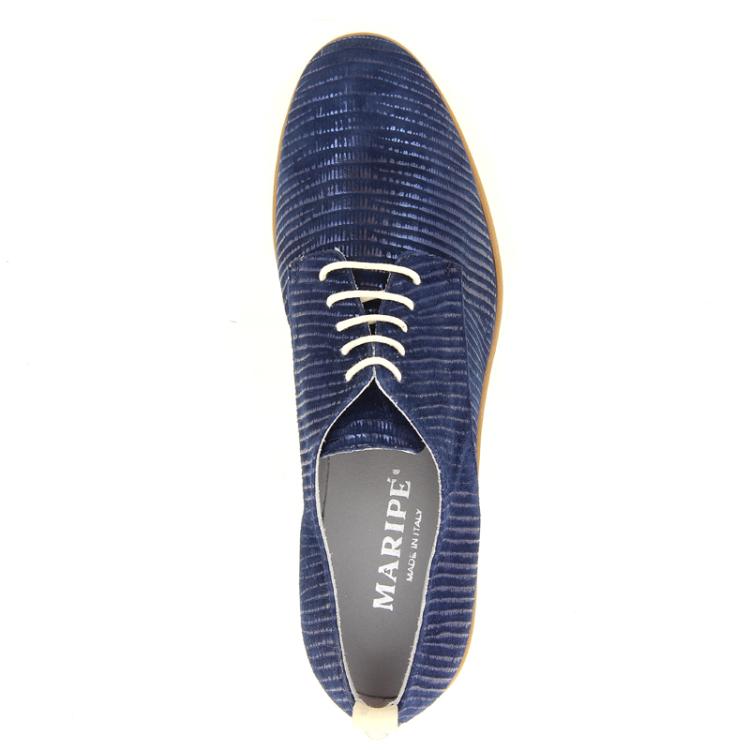 Maripe damesschoenen veterschoen donkerblauw 13020