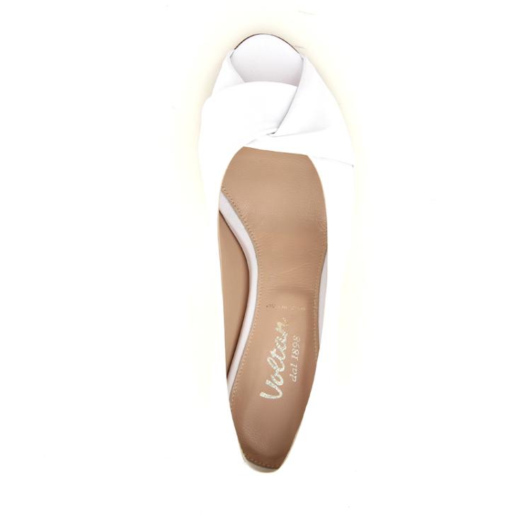 Voltan damesschoenen sandaal wit 12519