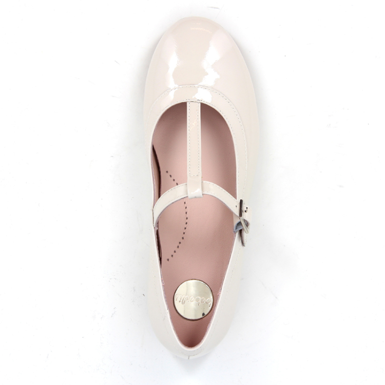 Beberlis kinderschoenen ballerina ecru 11255
