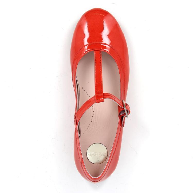 Beberlis kinderschoenen ballerina koraalrood 11258