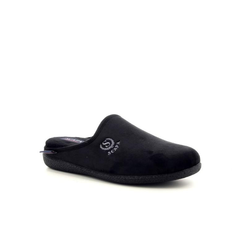 Scapa scarpe herenschoenen pantoffel zwart 188419