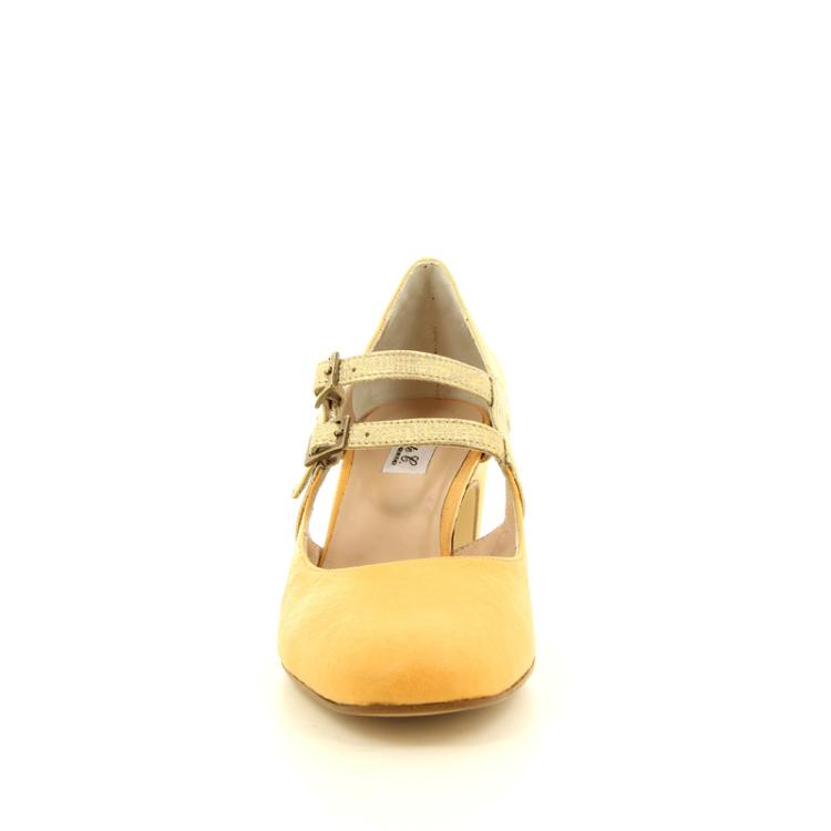 Benoite c damesschoenen pump oranje 13853