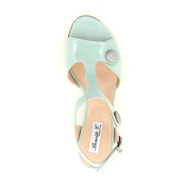 Benoite c damesschoenen sandaal lichtgroen 13736
