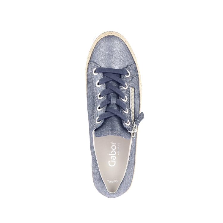 Gabor damesschoenen veterschoen jeansblauw 193502
