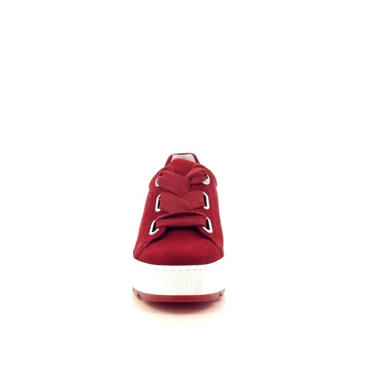 Gabor damesschoenen veterschoen rood 193495