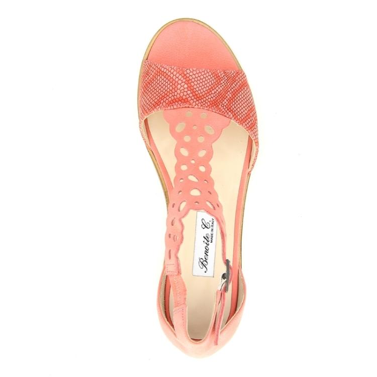 Benoite c damesschoenen sandaal koraalroos 90372