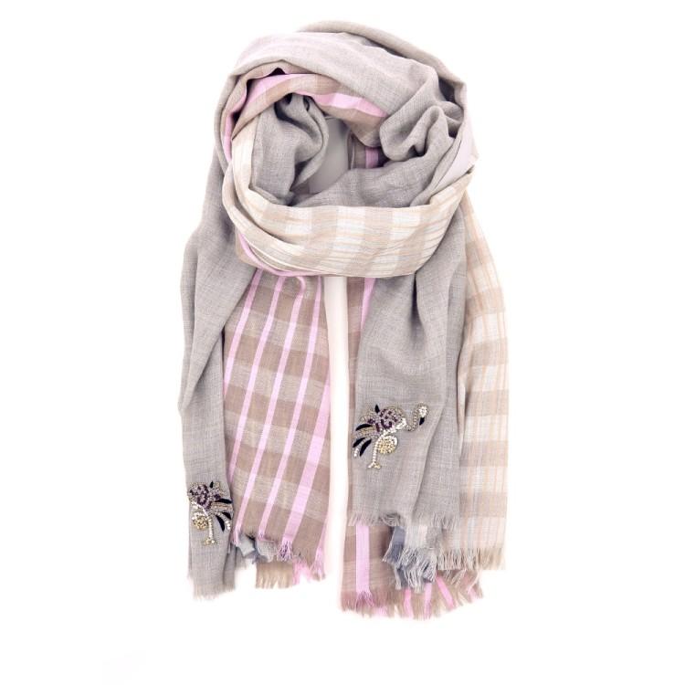 Yess accessoires sjaals lichtgrijs 187487