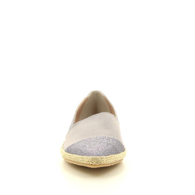 La badia damesschoenen espadrille zilver 98693