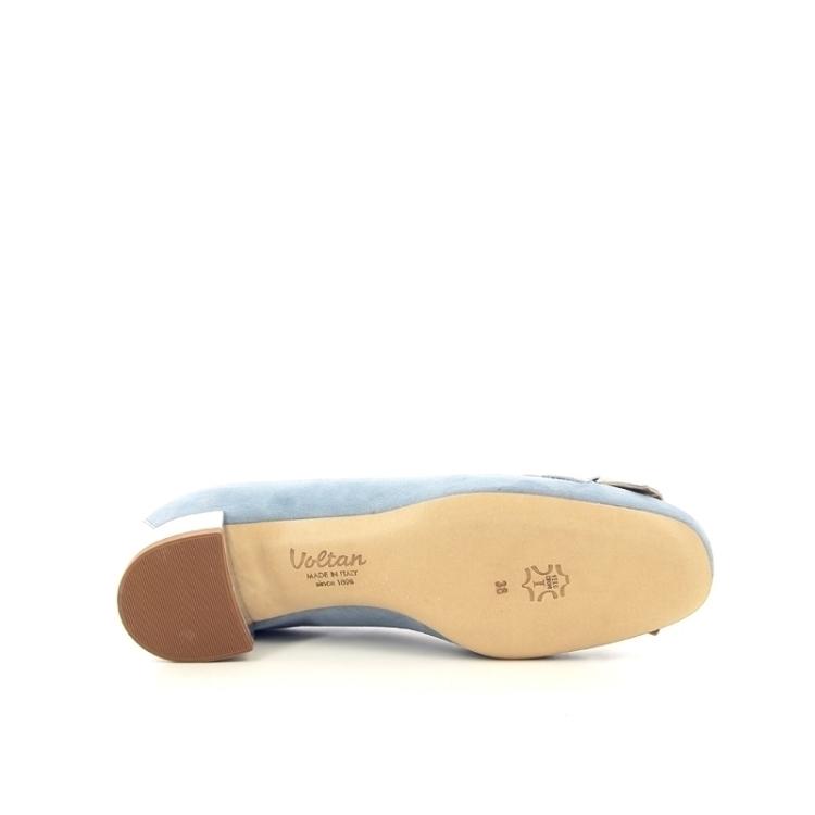 Voltan damesschoenen mocassin lichtblauw 172281