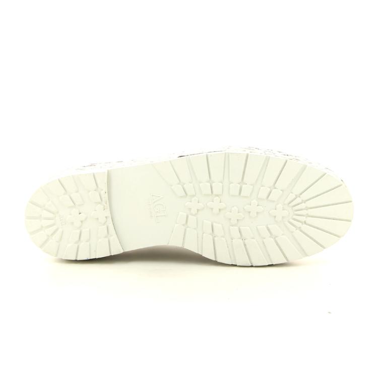Agl damesschoenen veterschoen zilver 12270