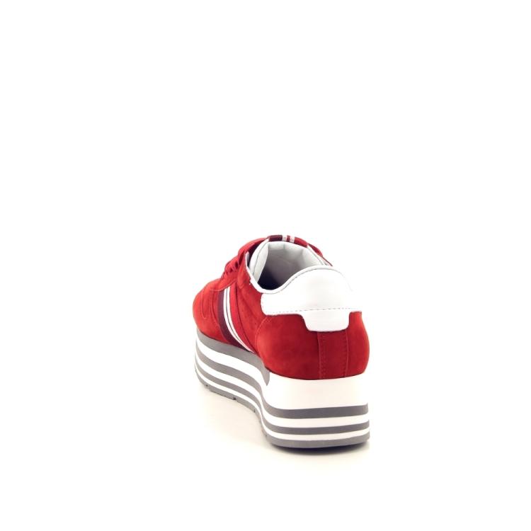 Kennel & schmenger damesschoenen veterschoen rood 195353